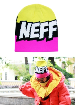 [NEFF] BEANIES Cartoon Pink/Black/Yellow