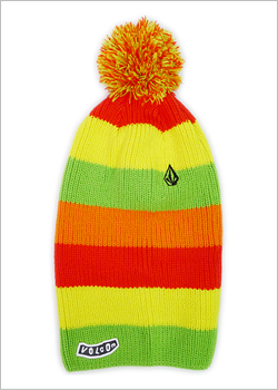 [VOLCOM] COLOR BEANIE / LIME