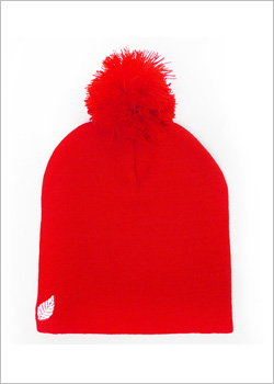 [ELM] The Pom Pom Resevoir Beanie - red