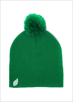[ELM] The Pom Pom Resevoir Beanie - Kelly green